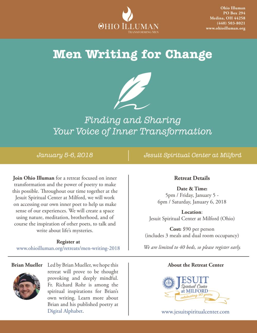 Men Writing for Change - Event Flier