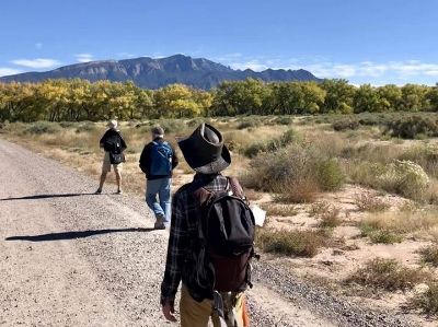 Men wandering at Santa Ana Pueblo - Soularize 2018