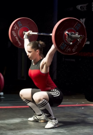Steph at the British Weightlifting Championship 2015