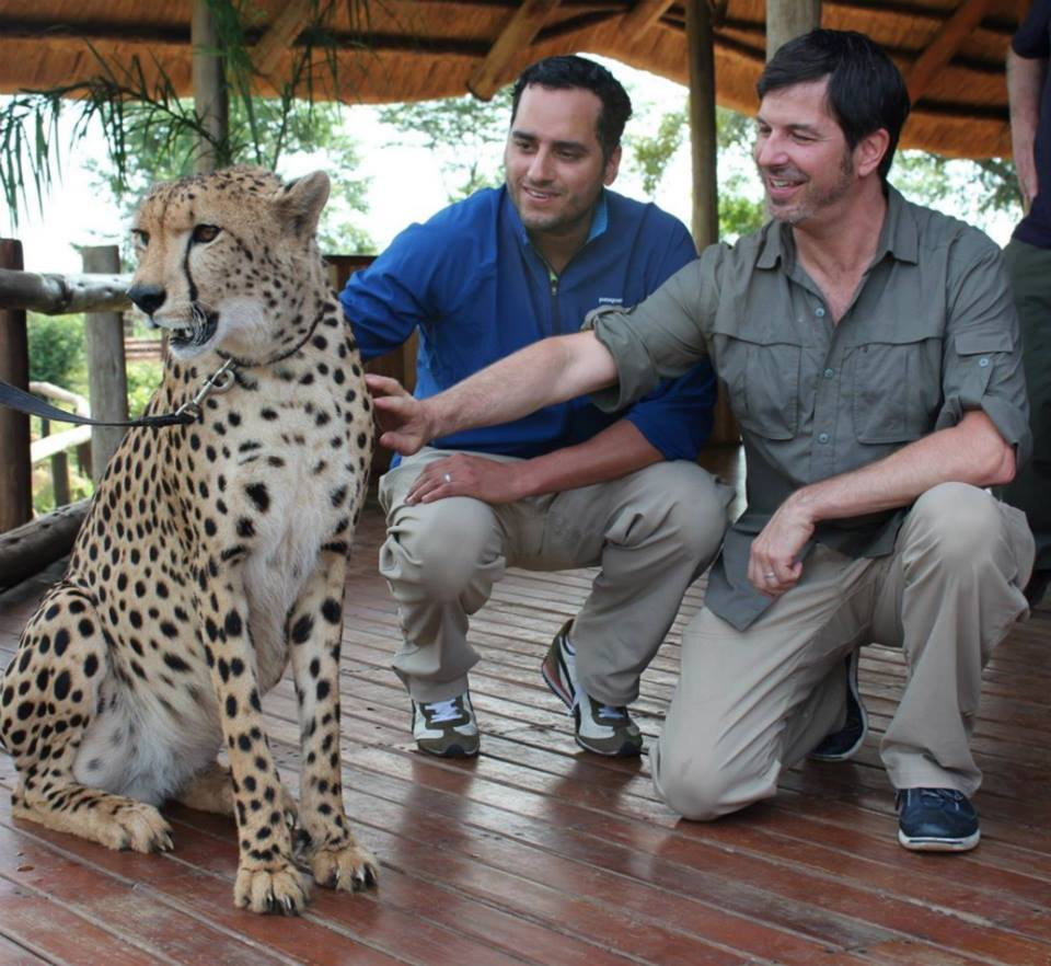 #throwbackthursday  #33 - Jan 12, 2012. Elephant Camp at Victoria Falls. After a morning of riding elephants, Timand I meet Sylvester, The Cheetah Ambassador  #rememberingtim