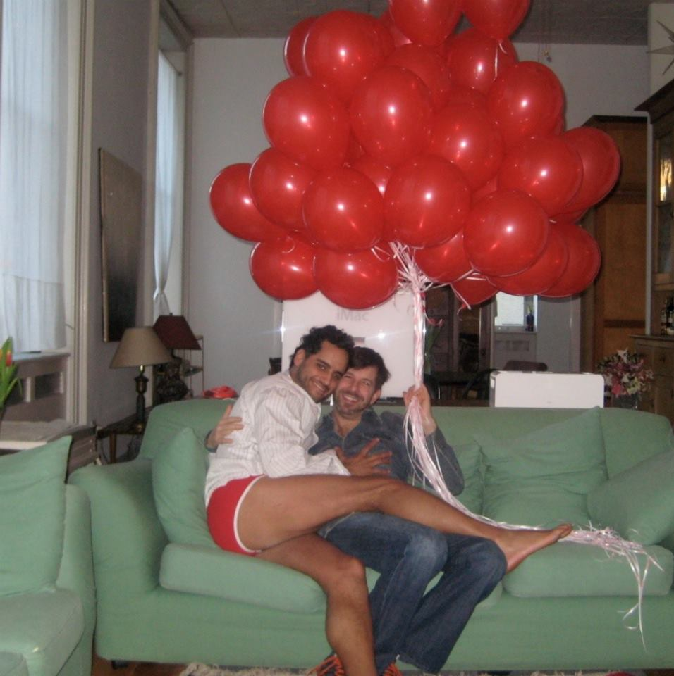 #throwbackthursday   #39 - Valentines Day 2008 - my birthday - Clearly shameless (or still drunk) from party thrown the night before where Tim meets some of my closest & craziest friends for the first time, he STILL surprises me with red balloons delivered the next morning After courting each other for a few months, it was here I begin to document our relationship…  #valentinesday  #valentinesbaby  #rememberingtim