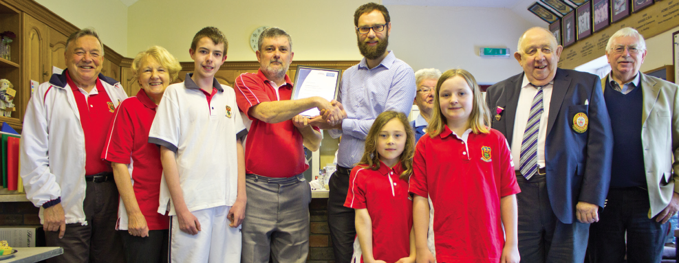 Lindfield Bowling Club - Clubmark Award ceremony