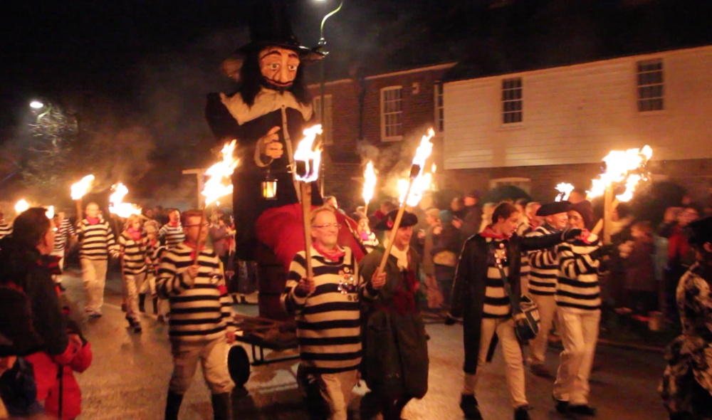 Guy Fawkes wheeling round Lindfield by Lindfield Bonfire Society