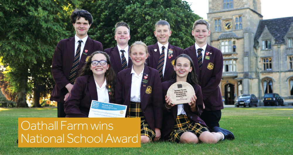 Oathall School Farm win prizes for Innovation and Enterprise at national awards