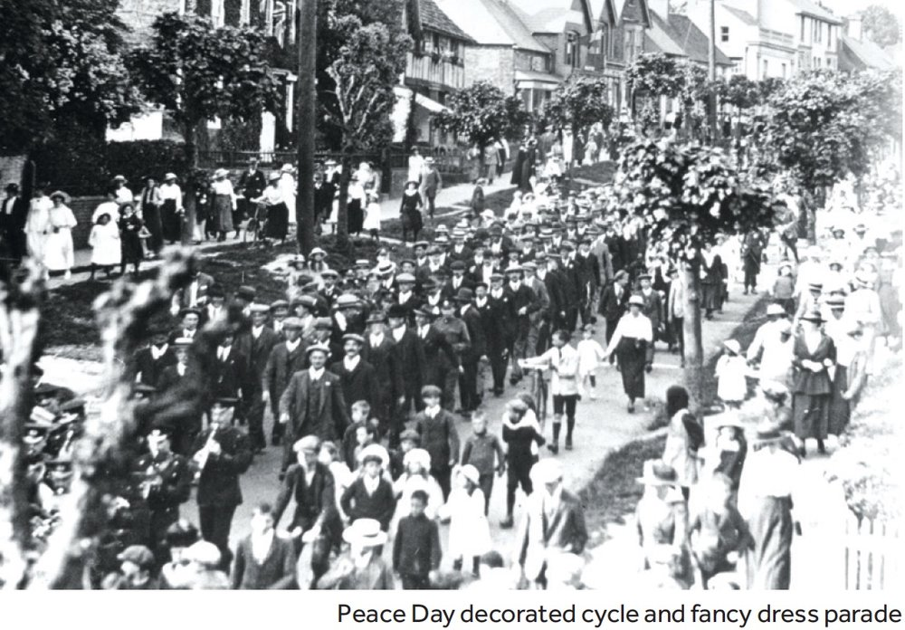 Peace Day parade in Lindfield High Street