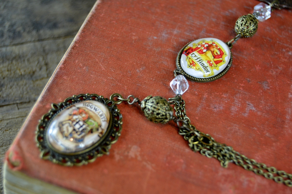 Custom Piece made with customer's personal Harry Potter pendants.