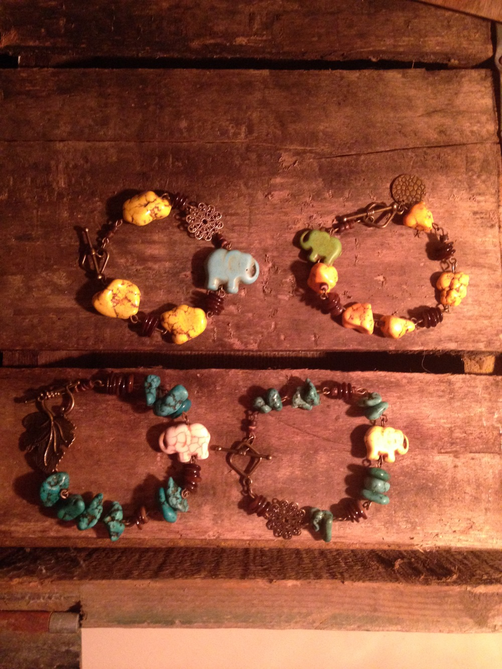 Custom Order for 4 elephant bracelets to pair with a specific person in their family to give as gifts.