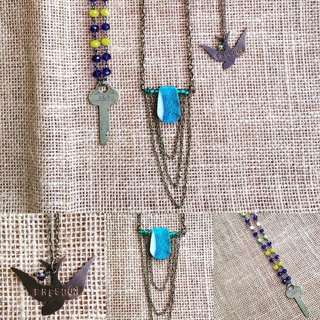Flash Sale 30% off now through Friday 12:00PM! Prices listed reflect discount! L-R (according to top picture) Key and Cobalt $18.90  Ocean and Chain $15.40 Freedom $7.00