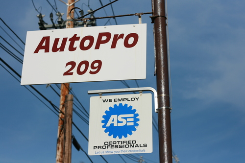Our AutoPro signs at 209 Stafford Street in Worcester