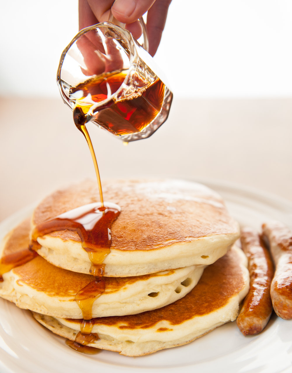 If it's too early in the day for pie, enjoy these in-season beauties by ordering a stack of hot-off-the-griddle pancakes served with our famous applesauce.