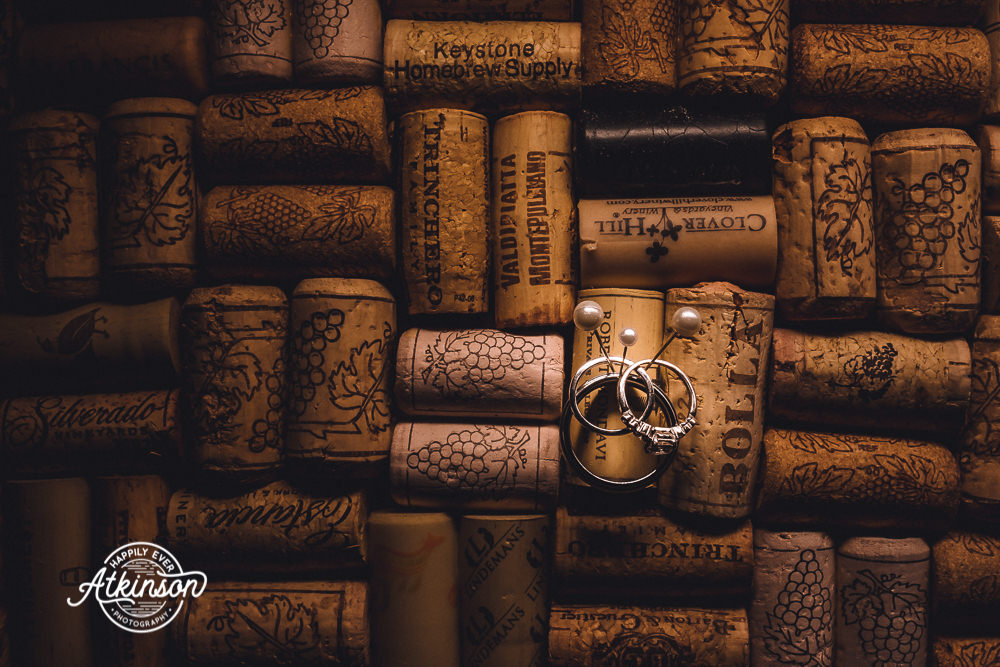 Wedding Rings with Corks