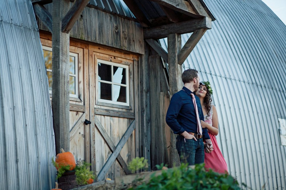 Fall Madison barn wedding photo Emily's Ten Oaks Ranch