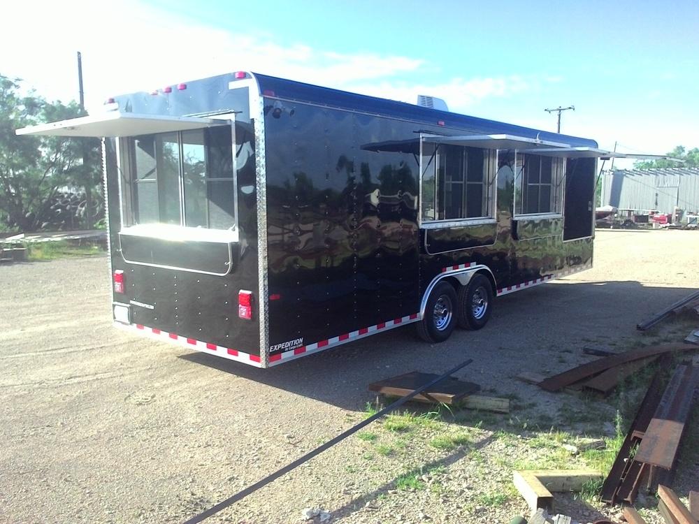 Custom built concession trailers Texas