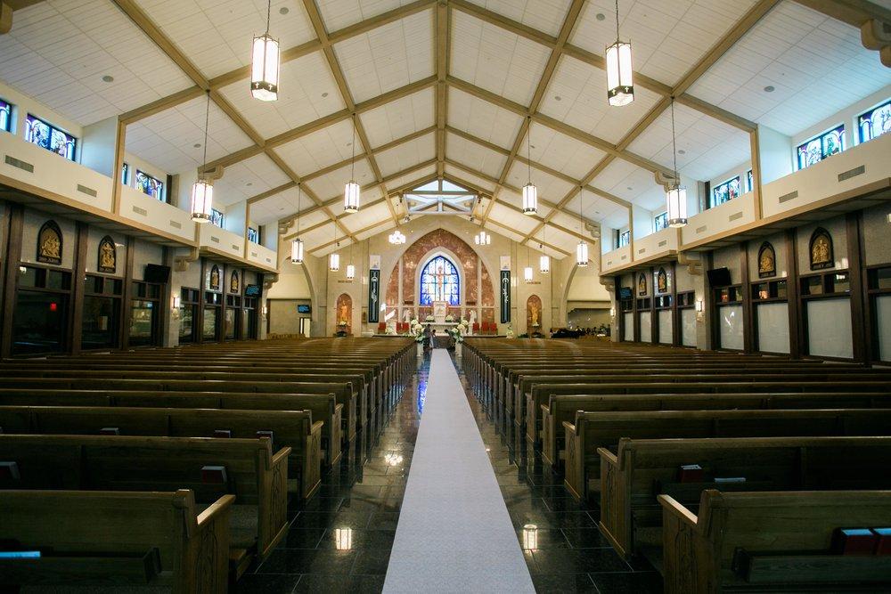 Inside of Vietnamese Martyrs Catholic Church,