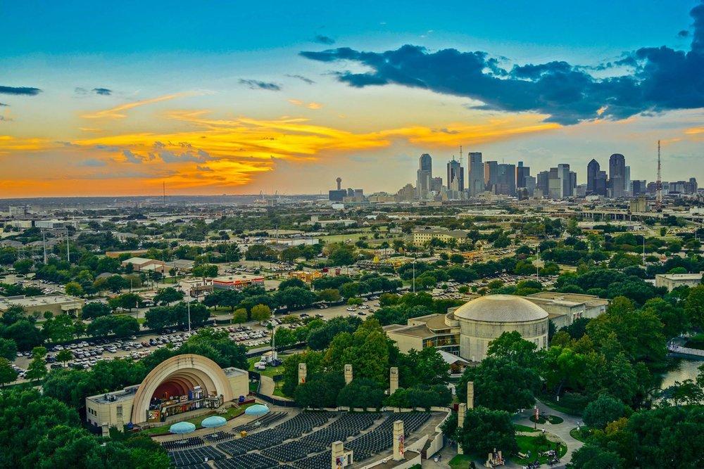 Dallas Skyline Sunset, Dallas, Texas