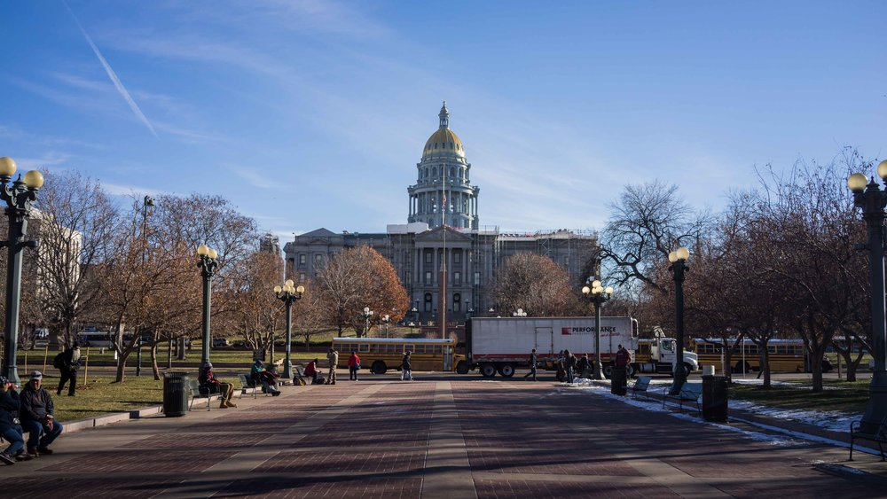 Colorado State Capital in the morning