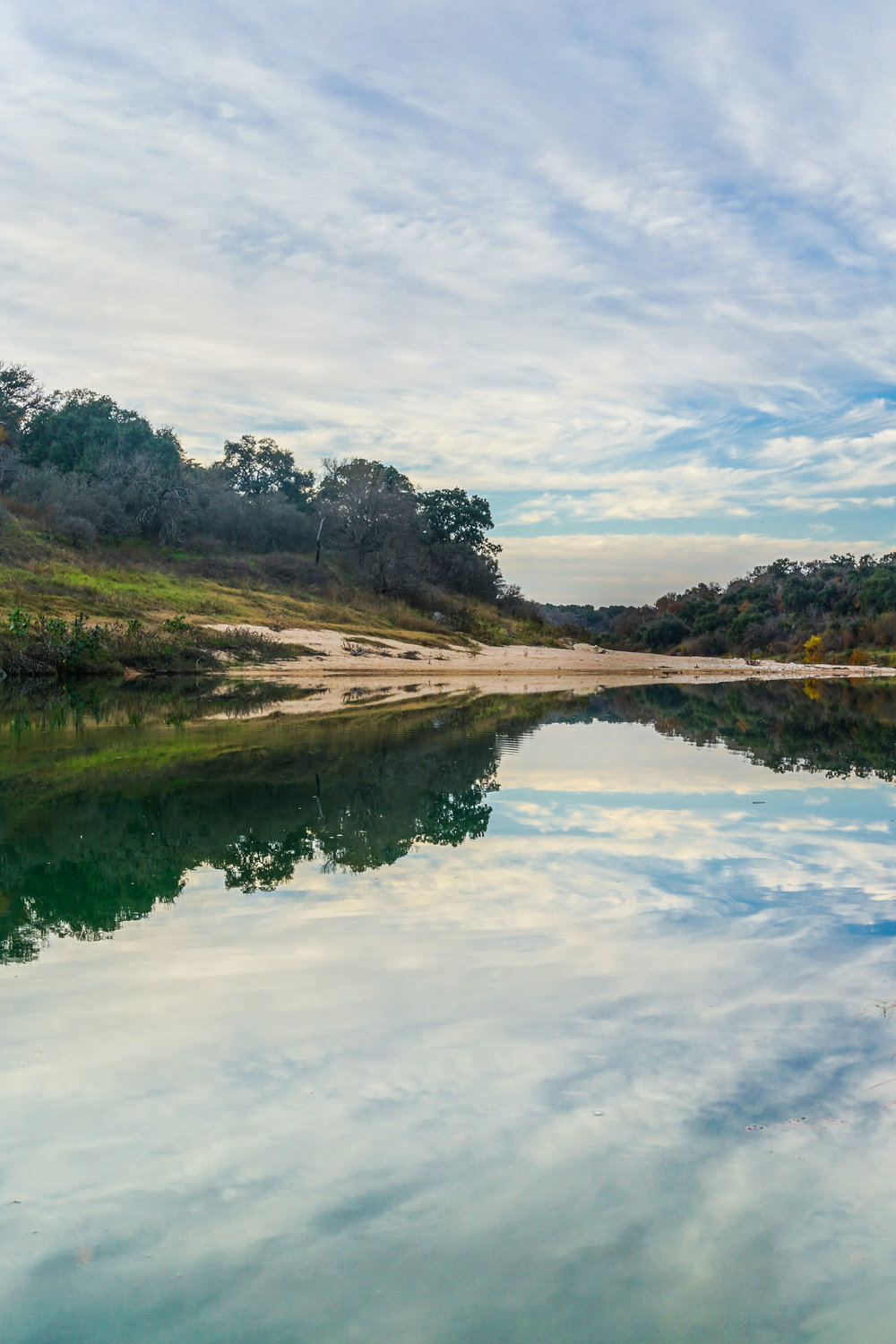 The reflection of Pedernales River