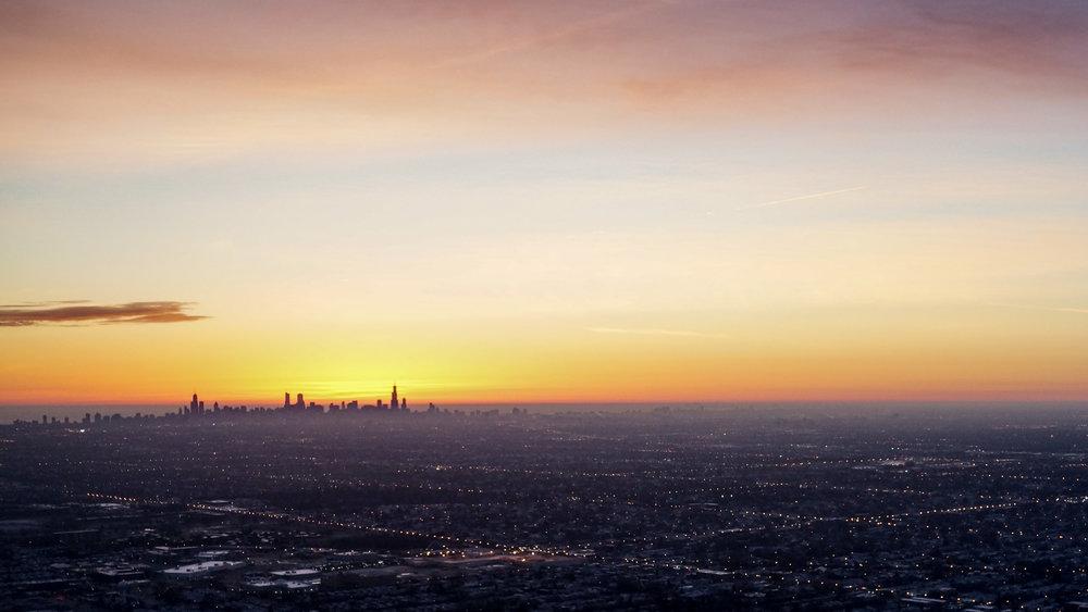Chicago Skyline during Sunrise