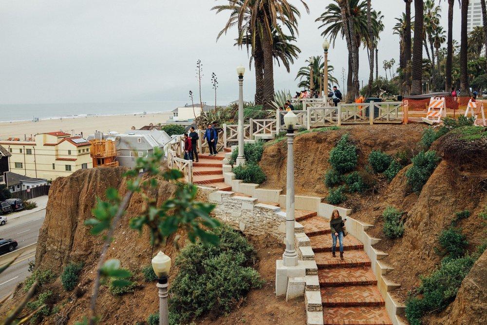 We were heading to Santa Monica Pier.