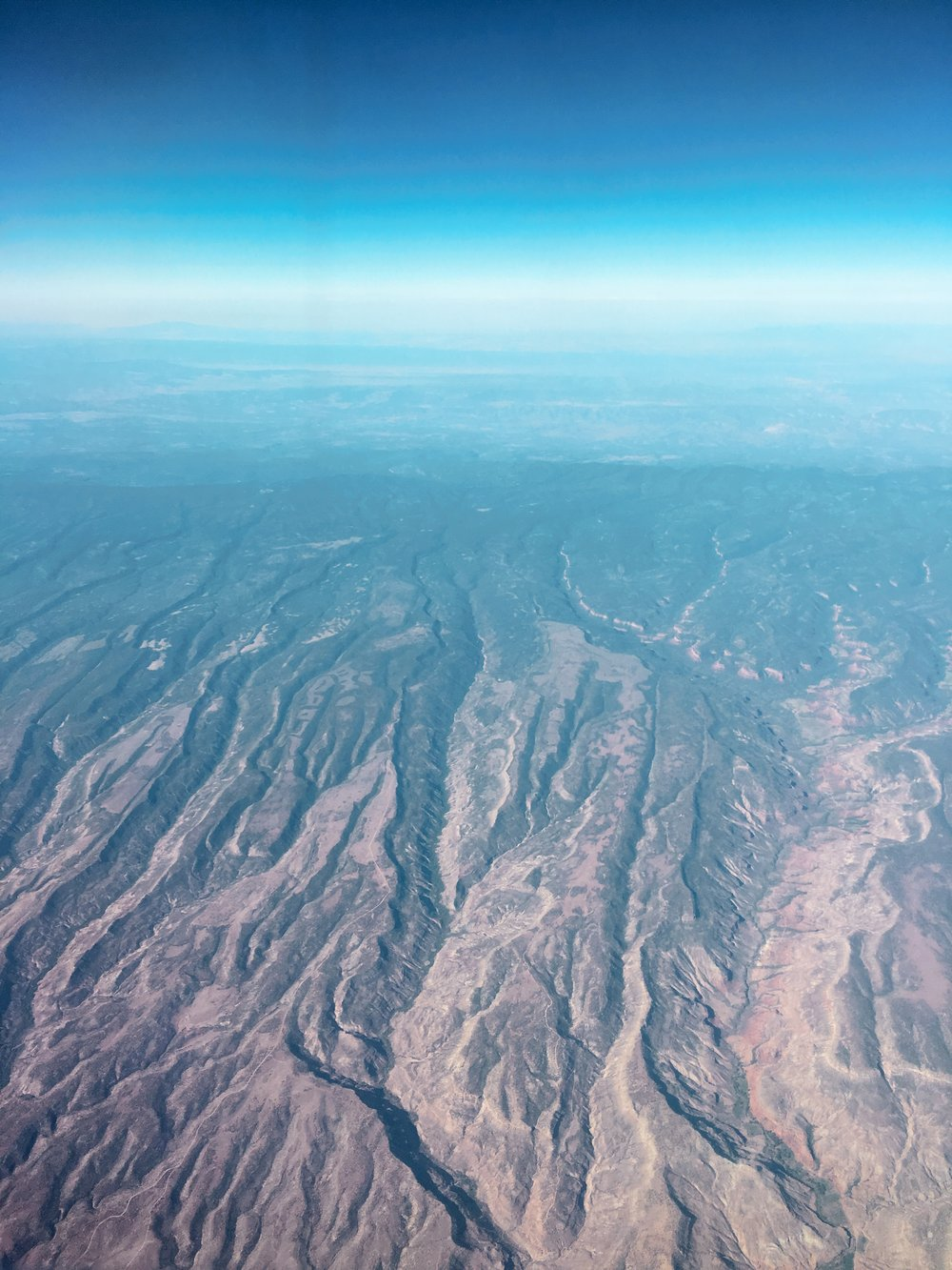 This shot was from airplane's window. Beautiful Utah
