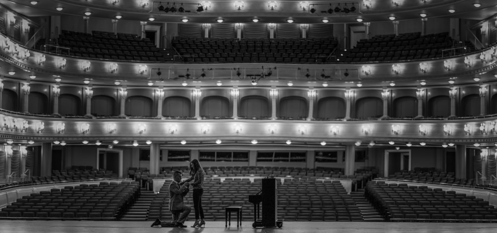 The Proposal  I didn't even know you can rent Bass Performance Hall for your event!!! It was elegant and beautiful. I'm so happy for Sarah and JT!