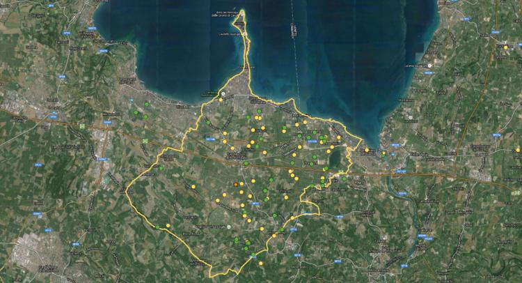 La mappa con il territorio e le aziende del Lugana - cliccare per accedere alla mappa ingrandita