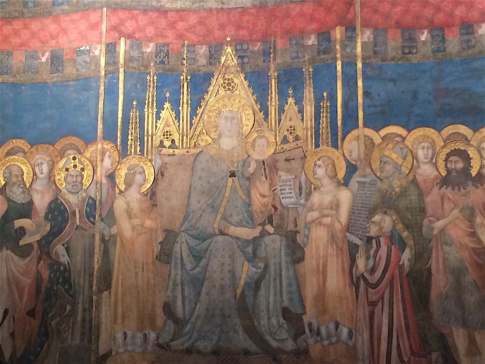 Fresco in a San Gimignano museum.