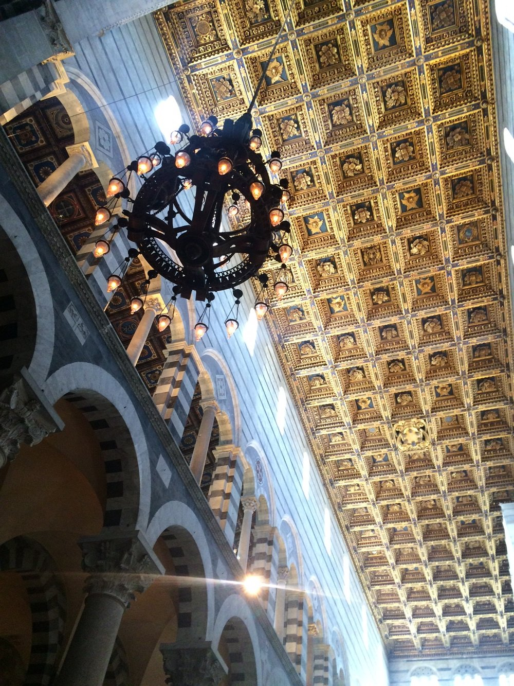Inside the cathedral in Pisa.