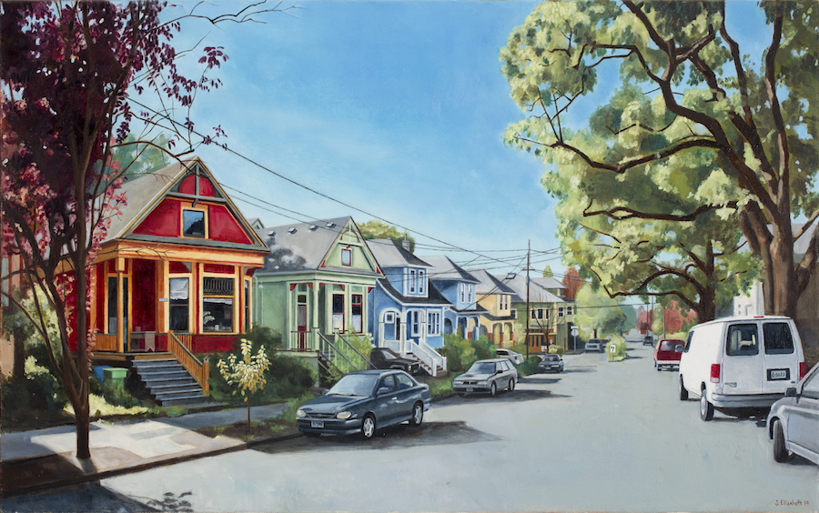 Ash St., 18x28, oil on canvas, 2014
