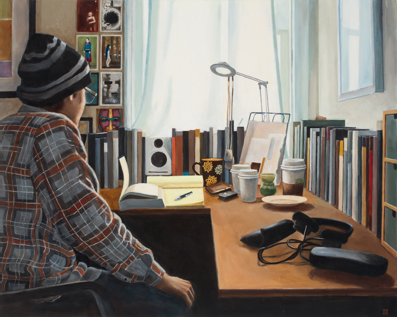 Asher's Study, oil on panel, 16x20, 2013