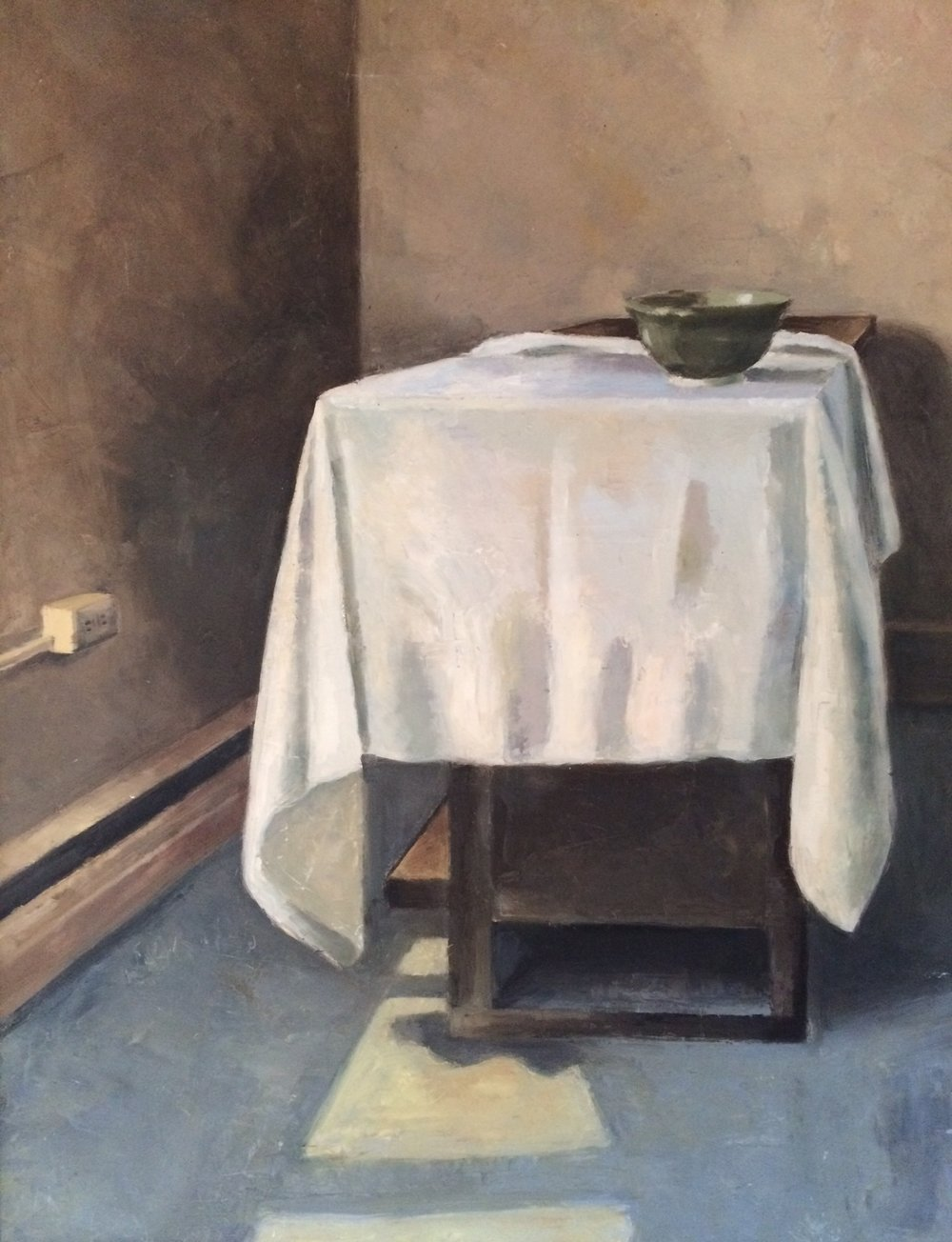 Lone Bowl, 18x24, oil on canvas, 1998
