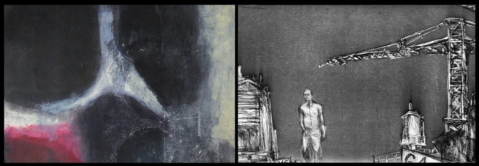 "Left: Sharon Lindenfeld, Untitled (from the 'Reverie"" Series); right: Madeleine Boucher, Still from Deux ou Trois Choses (Redux)"