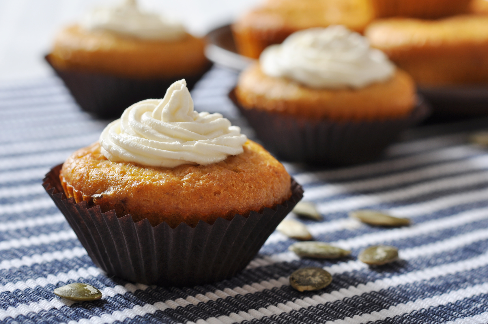 Pumpkin Cupcakes with Cream Cheese Frosting - Lightened Up ...
