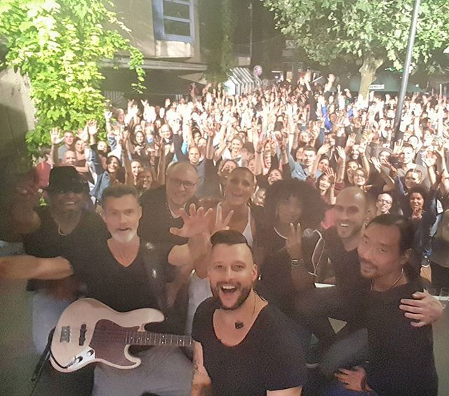 Oh what a night... Vielen Dank, Ihr seid der Wahnsinn! War das eine Party... #superphonix #live #band #hr1band2013 #vocals #drums #bass #guitar #keys #sax #music #inear #stagediver4 #music #musiclife #stadtfest #giessen #rocobuehne #2017