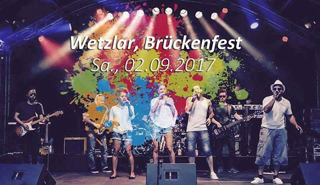See you tomorrow... #superphonix #live #band #hr1band2013 #vocals #drums #bass #guitar #keys #sax #music #inear #stagediver4 #music #musiclife #wetzlar #brückenfest