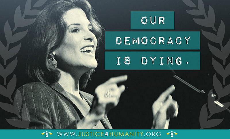 Marianne Williamson - Democracy is dying...