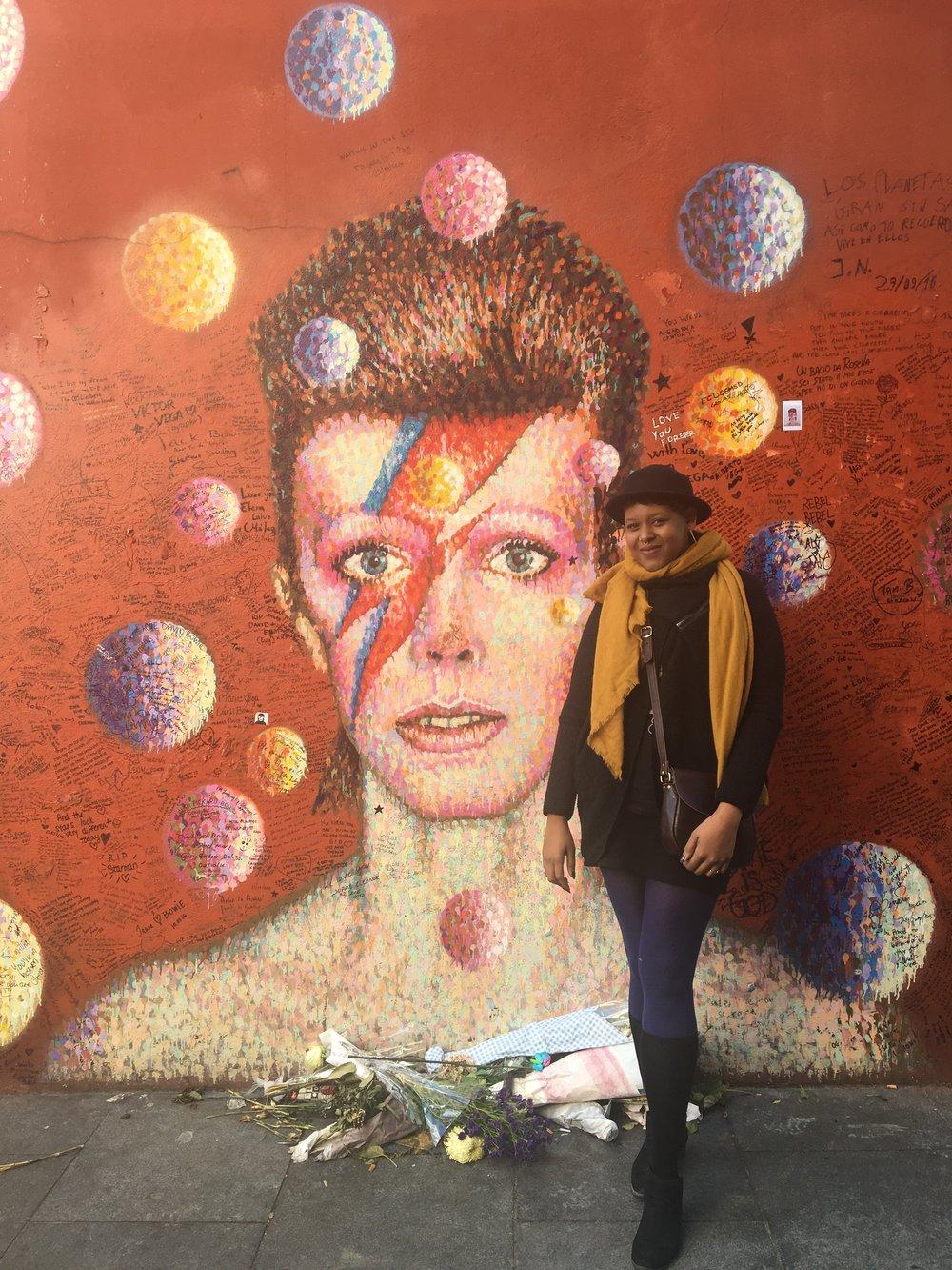 David Bowie Mural - Brixton, London, UK October 18, 2016