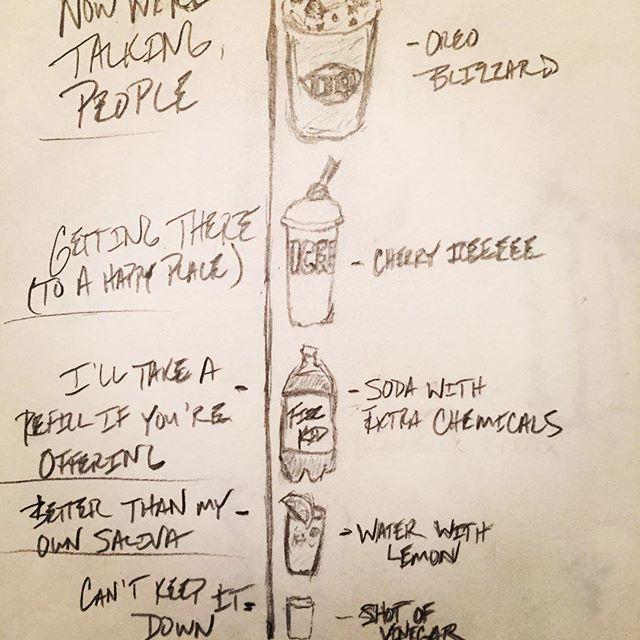 Maslow's Hierarchy of Beverage Needs. #NewBookProject #ArtClassDropout #MiddleSchoolMindset