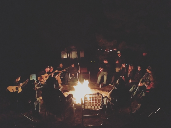 Late night jams around the campfire in the San Luis Valley