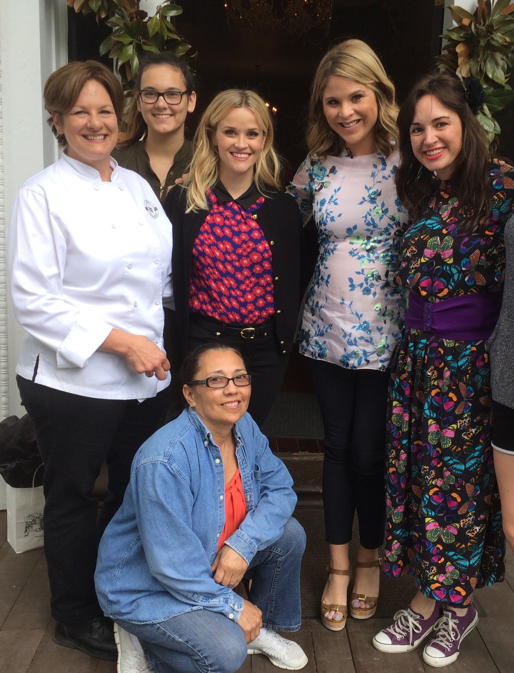 Staff with Reese Witherspoon and Jenna Bush Hager