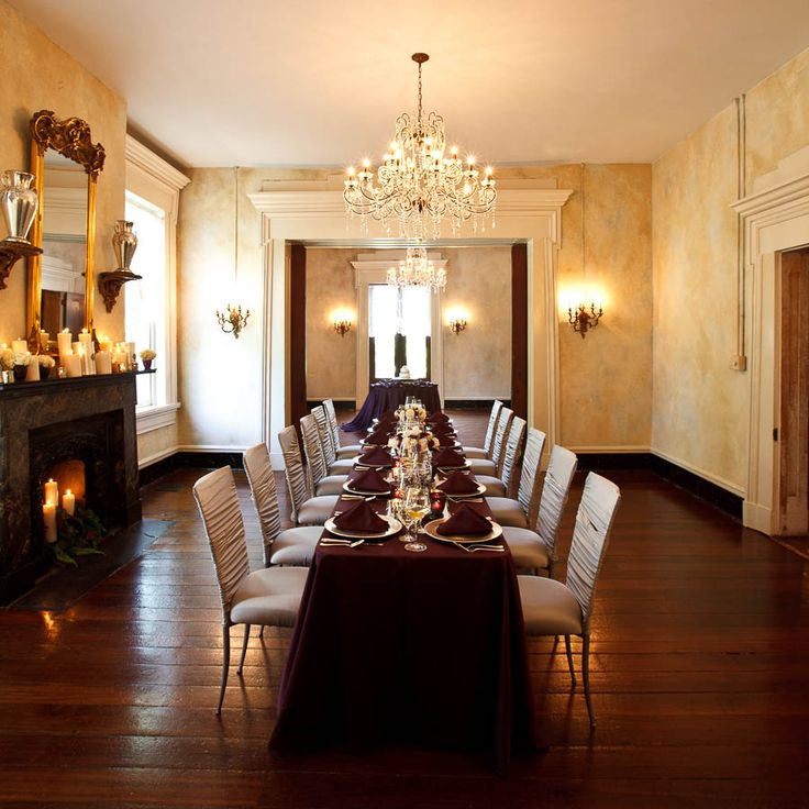 Unlike many other historic venues, the lower level of the mansion is available to use for your event. It is a beautiful area to display your food and cake, take pictures, and mingle and enjoy its' history.