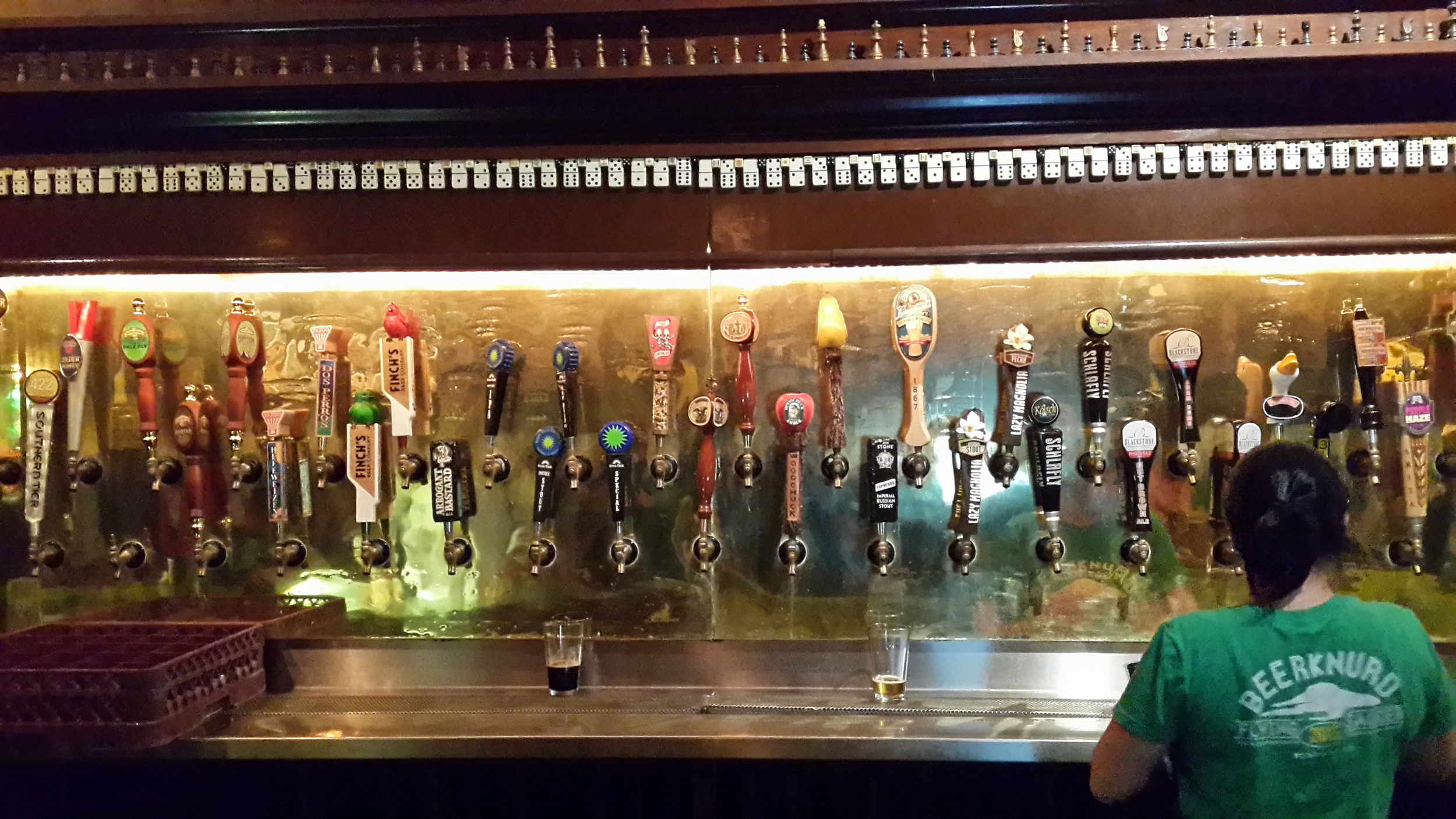 My, what a lot of taps you have...