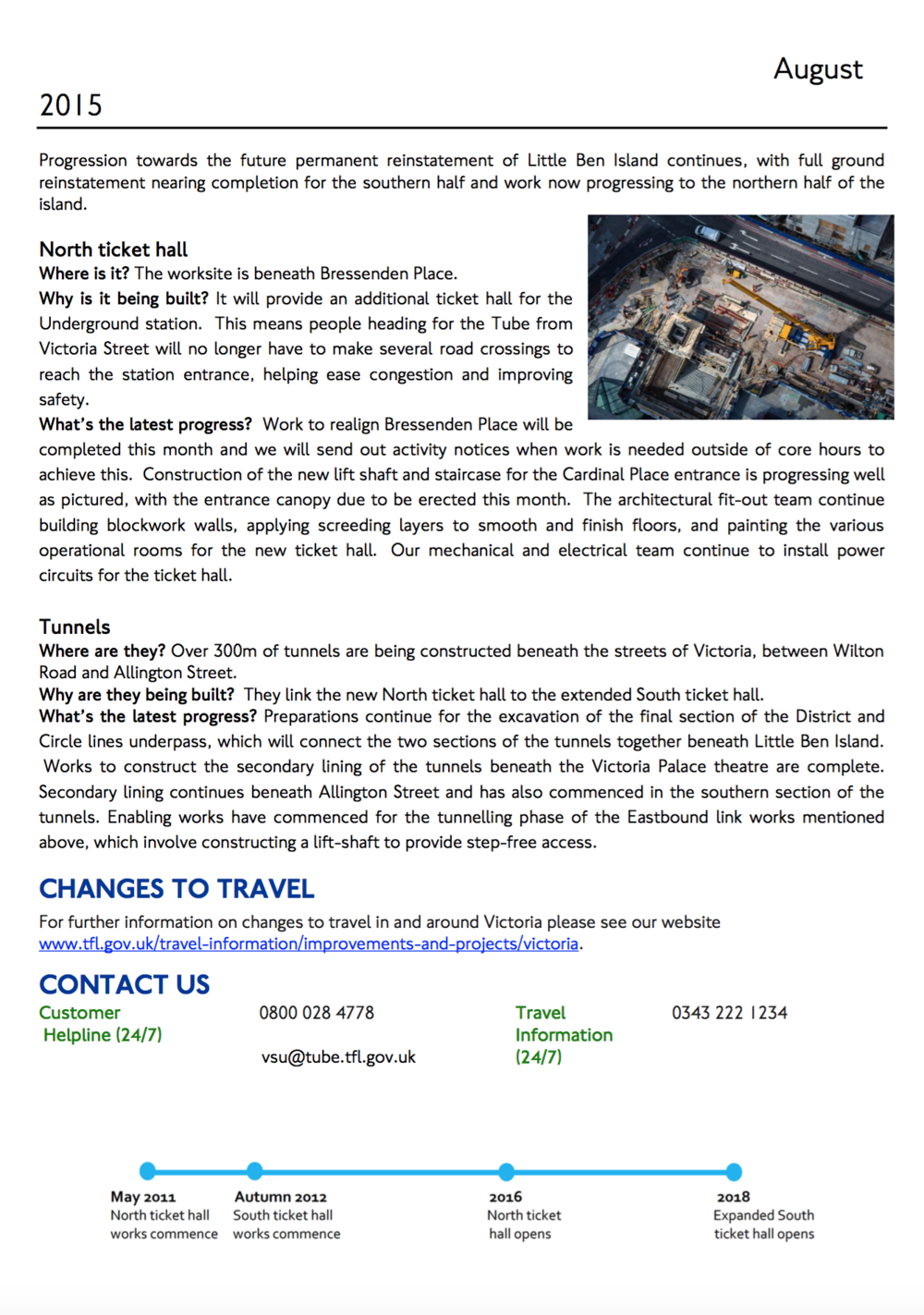 Victoria Station Update page two