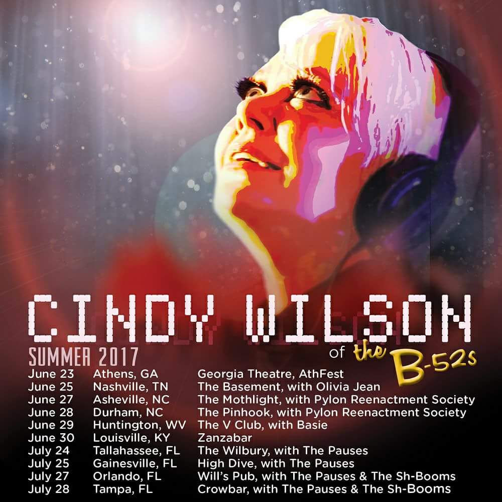 cindy wilson - summer tour 2017