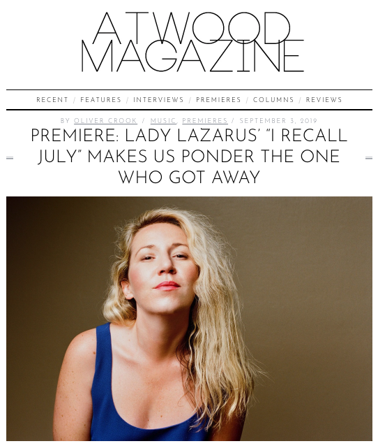 Lady Lazarus shares new single from Oct 18 LP — Noisy Ghost PR