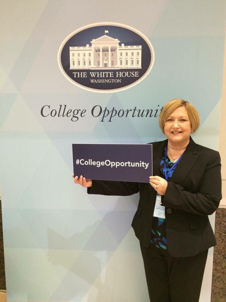 Our own Bonnie Sutton representing ACCESS and Virginia a the President's college access summit!