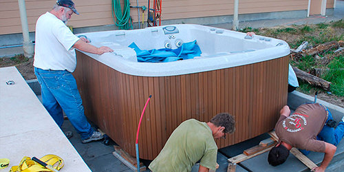 installing your spa...