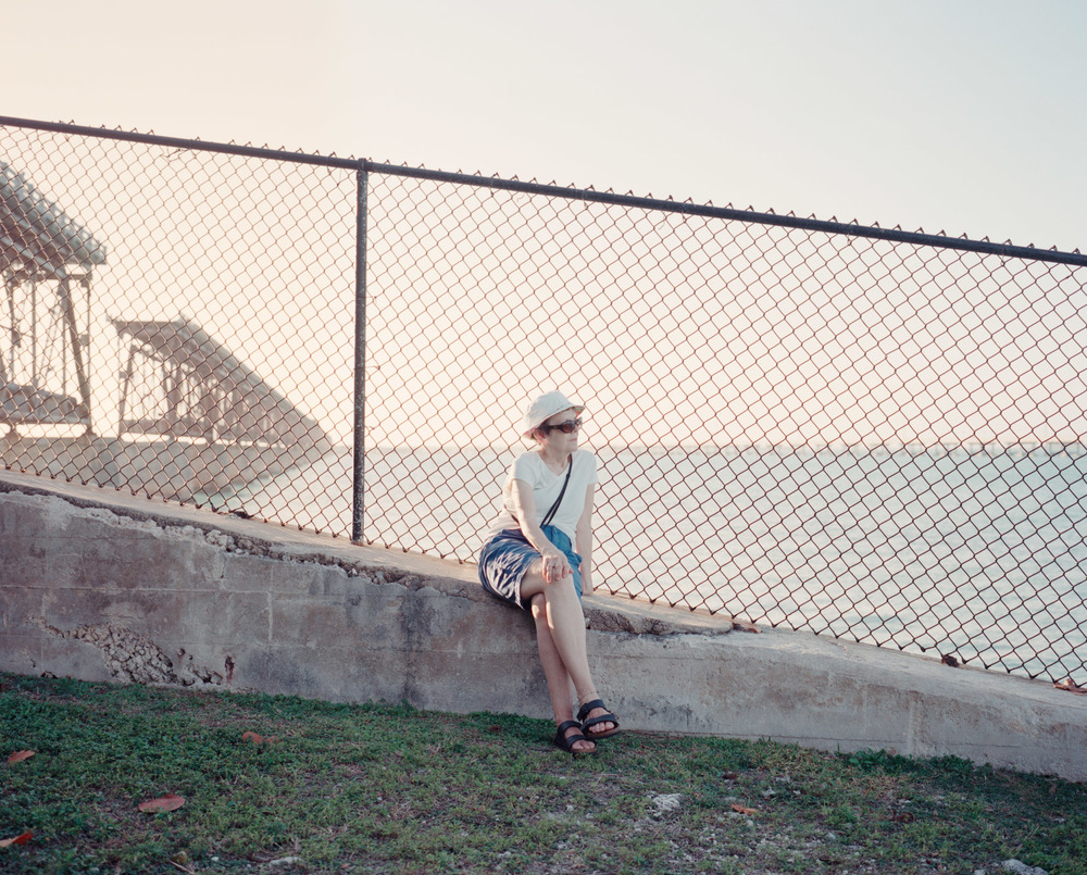 011-Lady on Fence, Bahia Honda, Florida.jpg