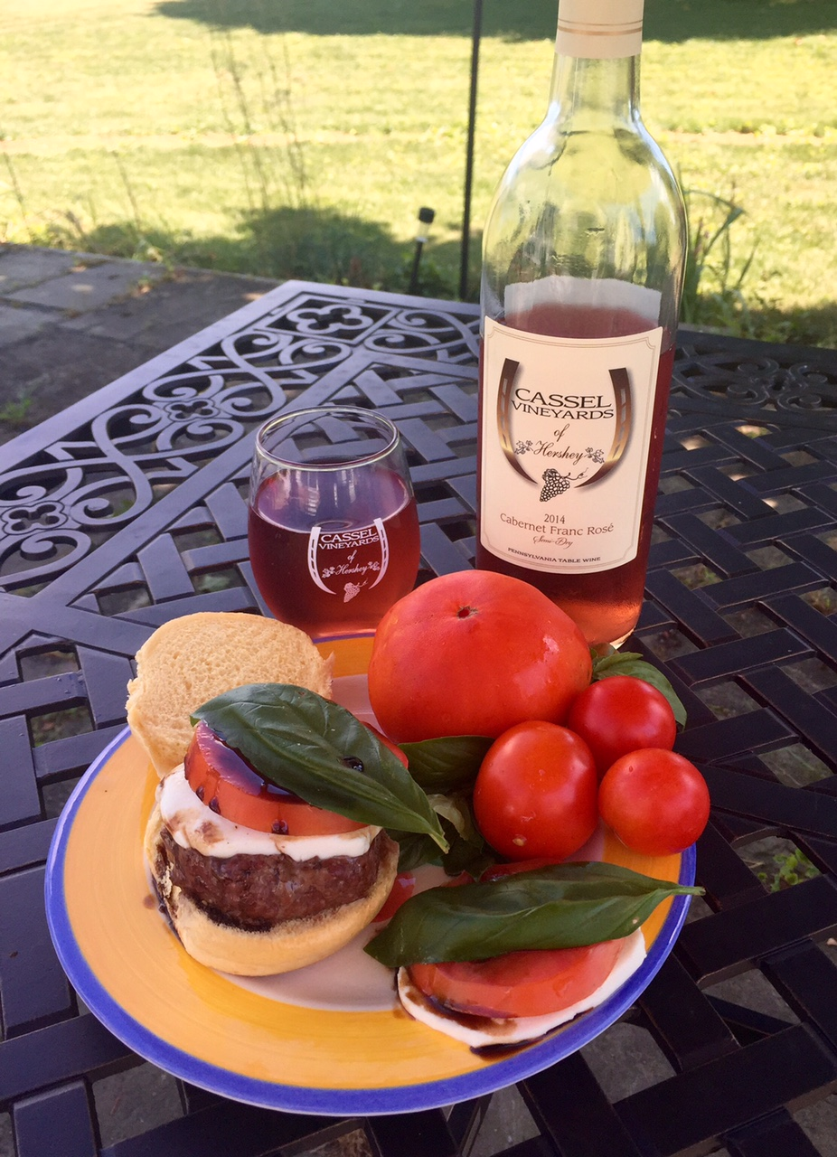 Caprese Slider with mozzarella, tomato, basil and balsamic vinegar.  One last lingering taste of Summer on a bun!