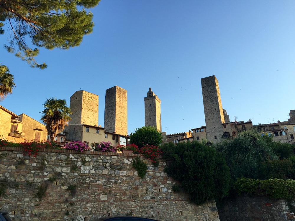 The skyline of San Gimignano with its walls and towers are synonomous with Vernaccia de San Gimignano.  The first wine recognized by poets like Dante, Popes and the Italian government.